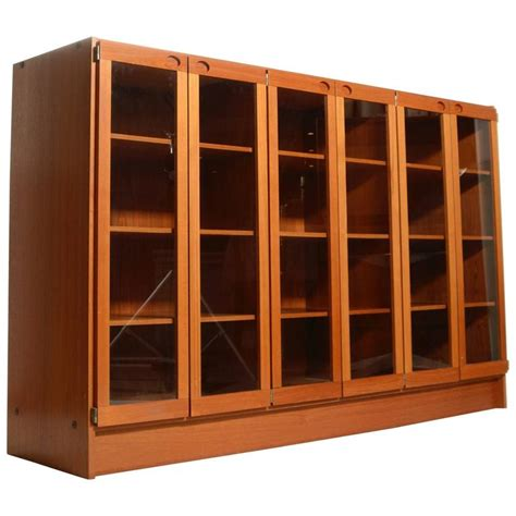 mid century modern kitchen cabinet doors mid century modern danish teak glass door cabinet for sale