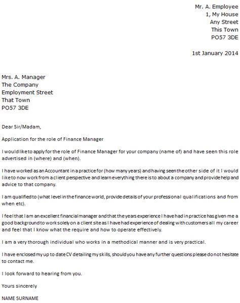 finance manager cover letter icoverorguk