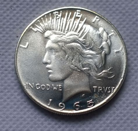 aliexpress under 1 dollar 1965 p peace dollar coin copy free shipping in non