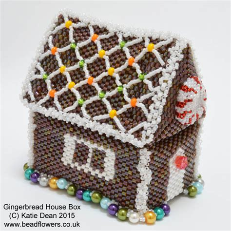 gingerbread house beaded box pattern by dean