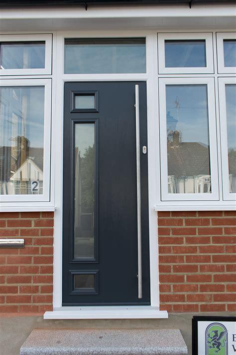 Grey Composite Front Doors Casement Windows Solidor Door And Bifold Doors Fitted In