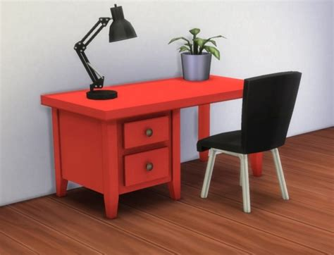Boring Desk by Boring Desk By Plasticbox At Mod The Sims 187 Sims 4 Updates