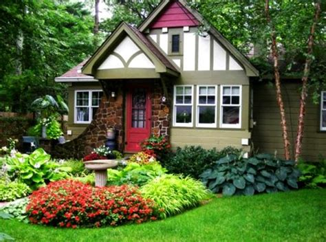 desain taman bunga depan rumah desain taman depan rumah penuh bunga yang asri