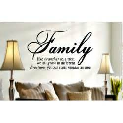 sayings for home decor family like branches on a tree vinyl lettering wall