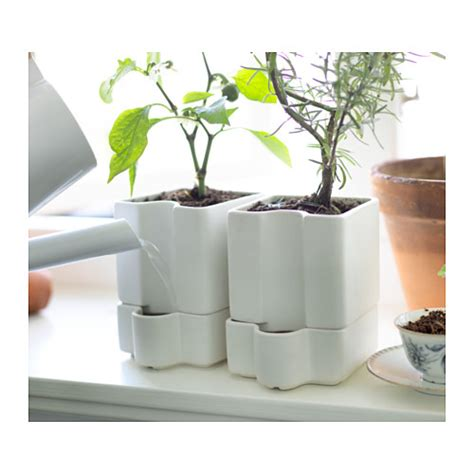 self watering plant pots s 214 tcitron self watering plant pot in outdoor white 10 5 cm