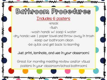 classroom bathroom procedures bathroom procedures posters by adventures with miss k and