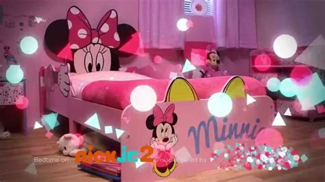 Curtains For Canopy Bed minnie mouse snuggletime toddler bed closer youtube