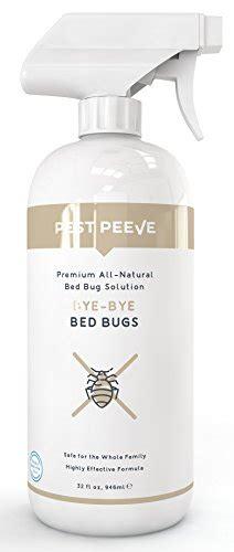 pest peeve bye bye bed bugs powerful natural bedbug killer spray home defense treatment