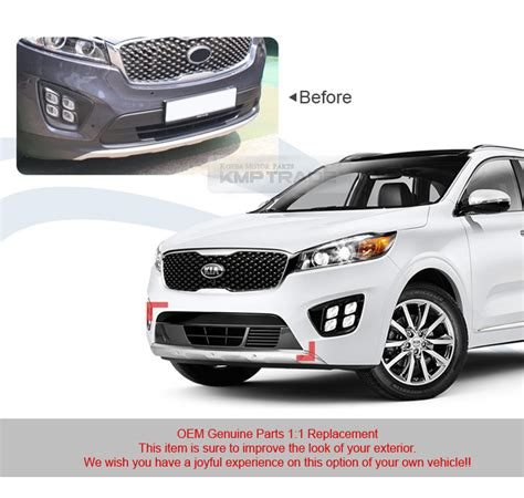 Kia Sorento Aftermarket Accessories Oem Front Bumper Lower Grille Cover Glossy Black For Kia