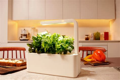click and grow garden this smart herb garden lets you click grow freshome com