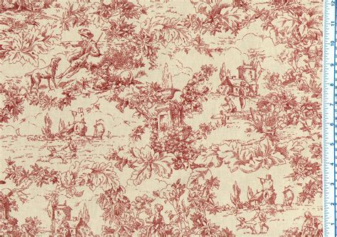 toile upholstery fabric toile fabric red the fabric mill