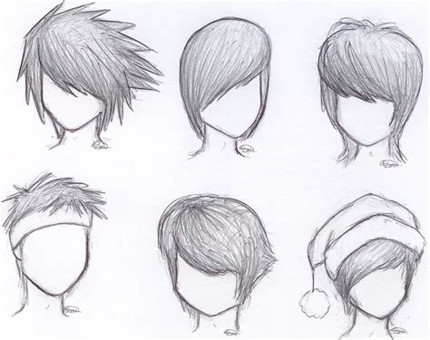 by step how to draw anime boys how to draw anime boy hair step by step for beginners