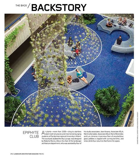 courtyard published in landscape architecture magazine
