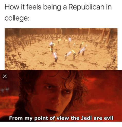 The View Meme - how it feels being a republican in college from my point