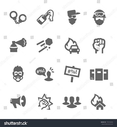 Simple Set by Simple Set Of Protest Related Vector Icons For Your Design