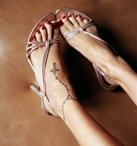 tattoo cross ankle 25 free ankle tattoo designs for women sheplanet
