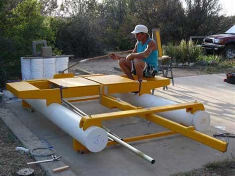pvc pipe pontoon boat