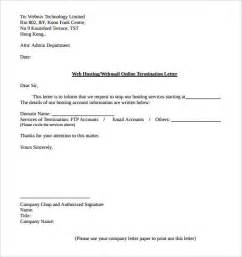 Termination Letter Of Services Sample 12 Termination Letter Templates Free Sample Example