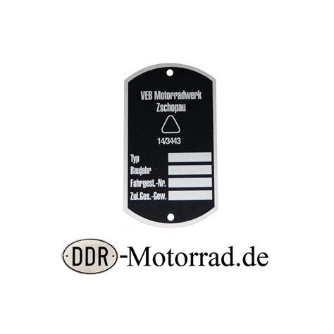 Typenschild Motorrad by Typenschild Mz Rt 125 Ddr Motorrad De Ersatzteileshop