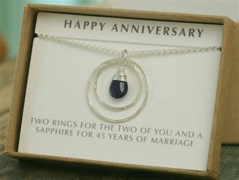 Wedding Anniversary Jewelry by 45th Anniversary Gift 45th Wedding Anniversary Gift