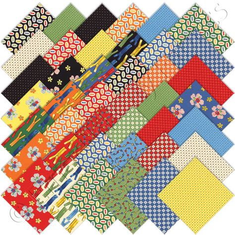 Quilt Fabrics by Moda Ducks In A Row Charm Pack Emerald City Fabrics
