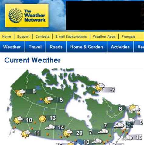 weather forecast cities index the weather network wheater in canada trycanada