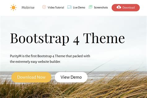bootstrap themes background mobirise releases bootstrap 4 theme for cutting edge websites