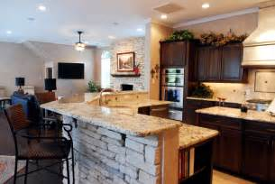 living room and kitchen together family room and kitchen brought together traditional