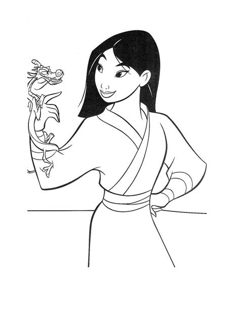 Printable Mulan Coloring Pages Coloring Me Disney Mulan Coloring Pages