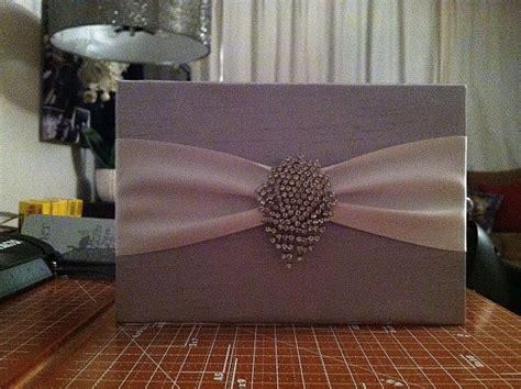 our diy silk wrapped wedding invites weddingbee photo - Diy Silk Wedding Invitations
