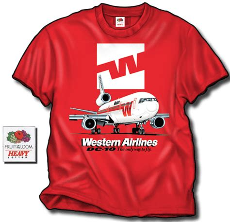 T Shirt Western Airlines skyshirts has the best in airline tshirts skyshirts