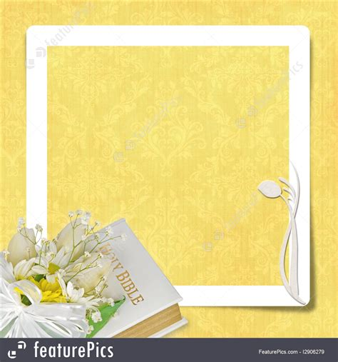 Wedding Holy Bible by Illustration Of Bridal Bouquet On Bible