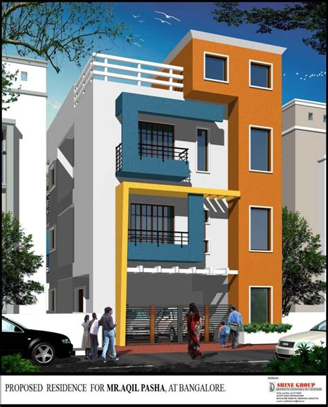 home design beautiful elevation for a three storey house