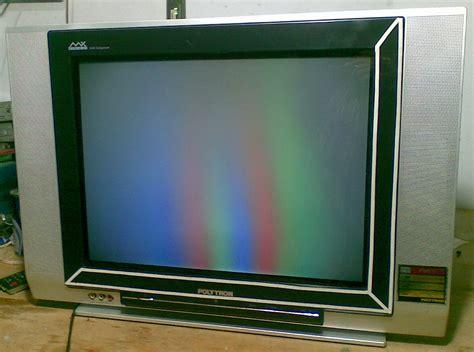 Tv Polytron Mx 14m17 polytron mx 5203r rusak gambar pelangi muliatronik service televisi dan elektronik panggilan