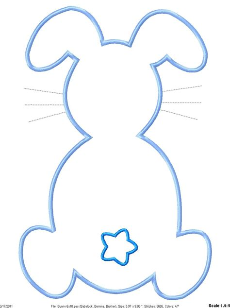 best photos of bunny head outline printable bunny head