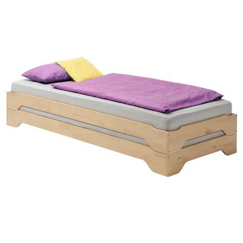 lits superposables lot de 2 lits superposables fonctionnels 90 x 200 cm pin