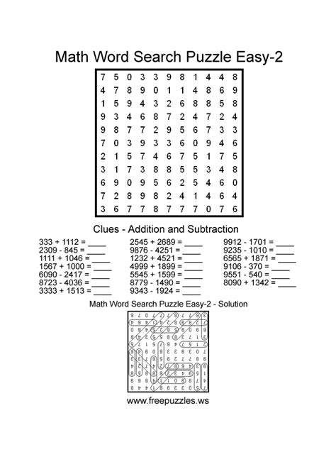 jumbo printable word search puzzles large print word search puzzles about math pictures to pin