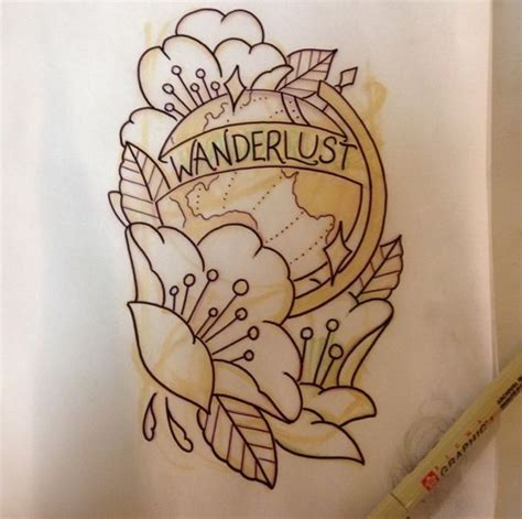 wanderlust tattoo designs 1000 ideas about wanderlust tattoos on