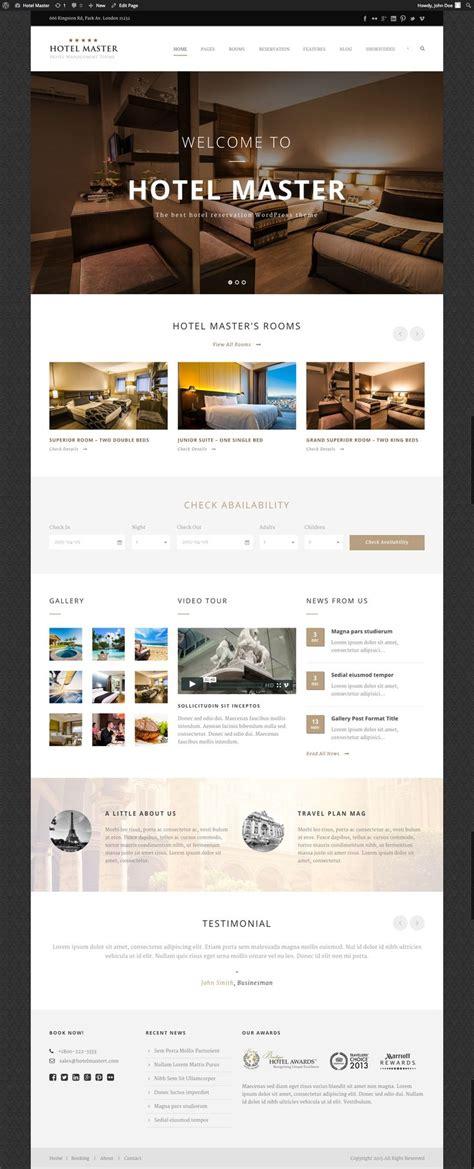 hotel theme themeforest 1000 ideas about hotel website on pinterest website