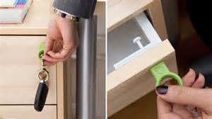 s invisible drawer locks only open with a magnetic key