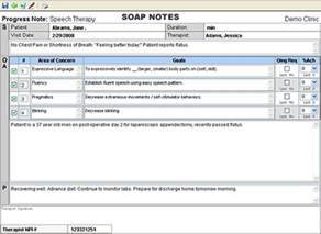 soap documentation template therapy documentation software