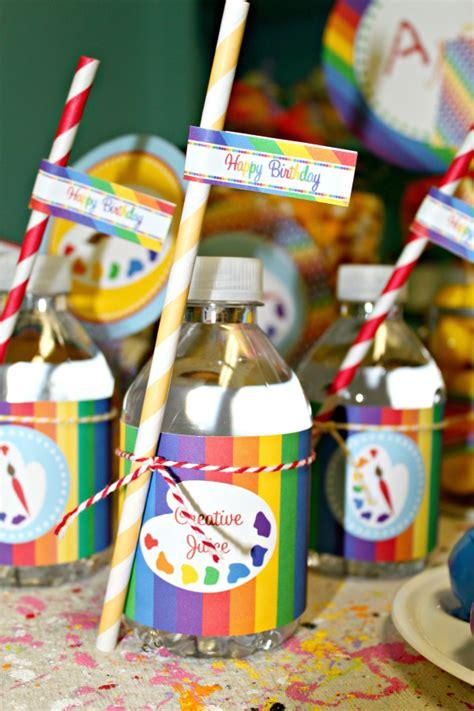 art themed events hailey turns 7 on pinterest art birthday parties art