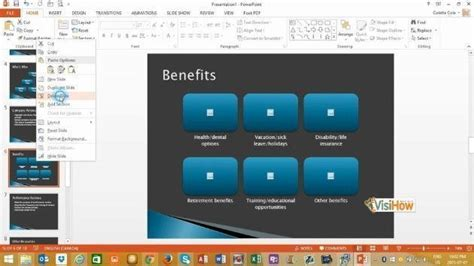 create a presentation from a template in microsoft