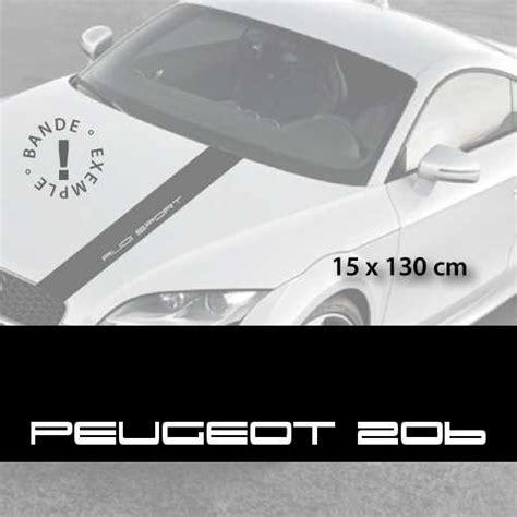 Peugeot Aufkleber Motorhaube sticker f 252 r die motorhaube peugeot 206