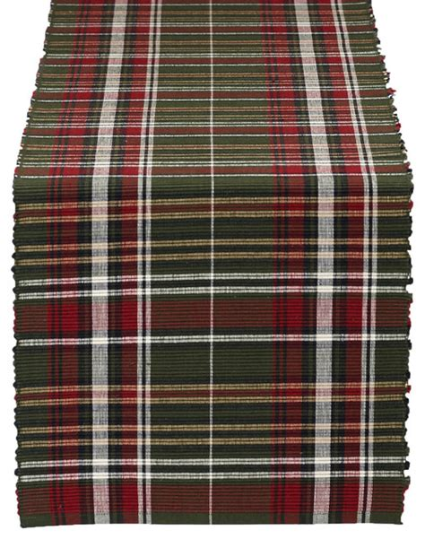 Plaid Table Runner by Forest Ridge Plaid Table Runner Rustic Table Runners
