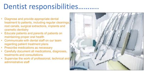 responsibilities of a dentist administration cover letter