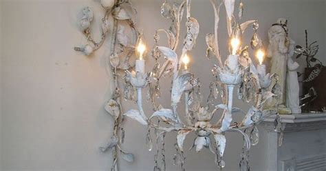 Swag Hook For Chandelier Chandelier Lighting Swag W Ornate Wall Hook Blue Shabby Cottage Chic