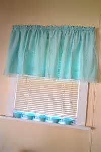 Teal Valance 2 Panels Vintage Aqua Teal Valance Curtain With Flower