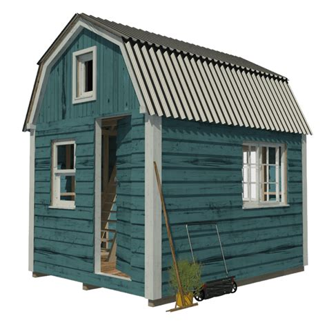 8x8 house plans gambrel roof shed plans