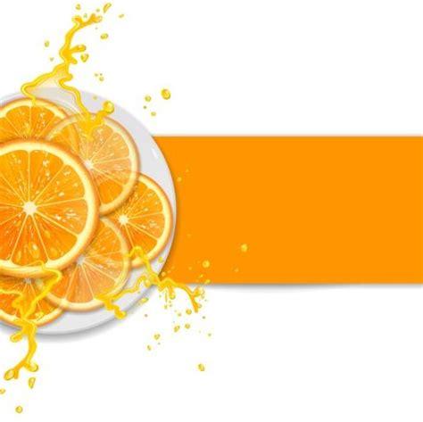 background juice fresh orange with juice background vector 02 vector